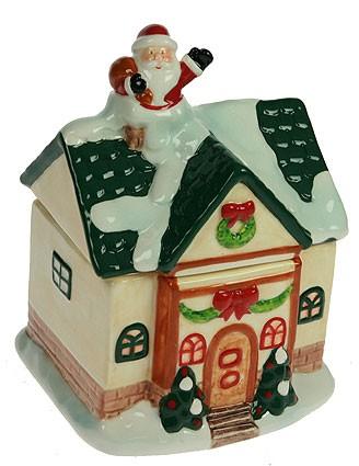 Шкатулка Дед мороз на домике