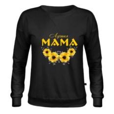 Черный женский свитшот Лучшая мама