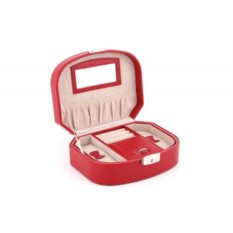 Красная шкатулка для ювелирных украшений