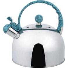 Металлический чайник с голубой ручкой на 2,5л Bekker