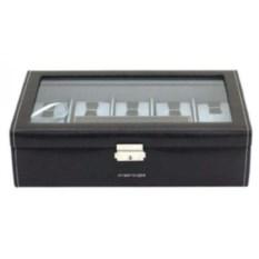 Черная шкатулка для хранения 7 часов с дорожным футляром