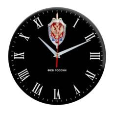 Настенные часы «ФСБ России» черного цвета