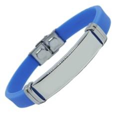 Голубой каучуковый браслет