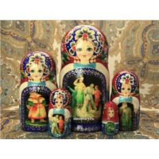Набор русских матрешек Царевна-лягушка