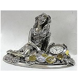 Часы «Богиня благоденствия с монетами»
