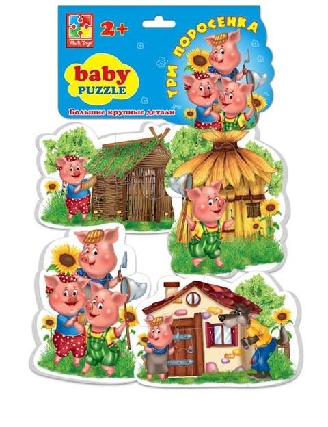 Мягкие пазлы Baby puzzle Три поросенка
