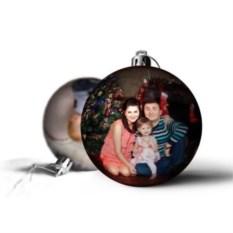 Елочный шарик с фото Семье