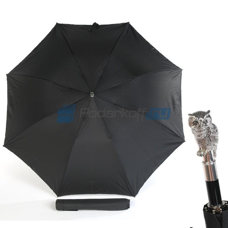 Мужской зонт складной Pasotti Auto Man Owl