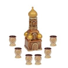 Водочно-коньячный набор Храм 7 предметов