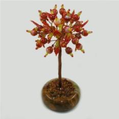 Дерево любви из сардоникса в чаше из оникса