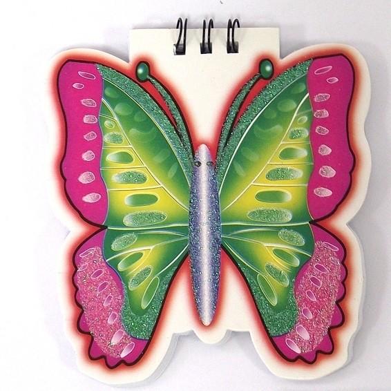 Блокнот в виде бабочки