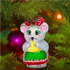 Елочная игрушка «Мышка-норушка»