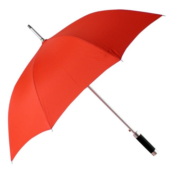 Зонт-трость Rumba, полуавтомат в чехле, красный, полиэстер