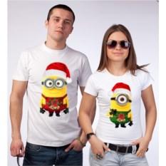 Новогодние парные футболки Миньоны