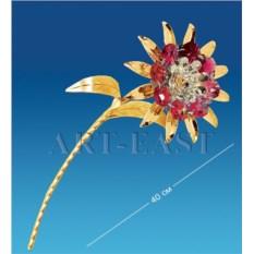 Фигурка с цветными кристаллами Swarovski Цветок