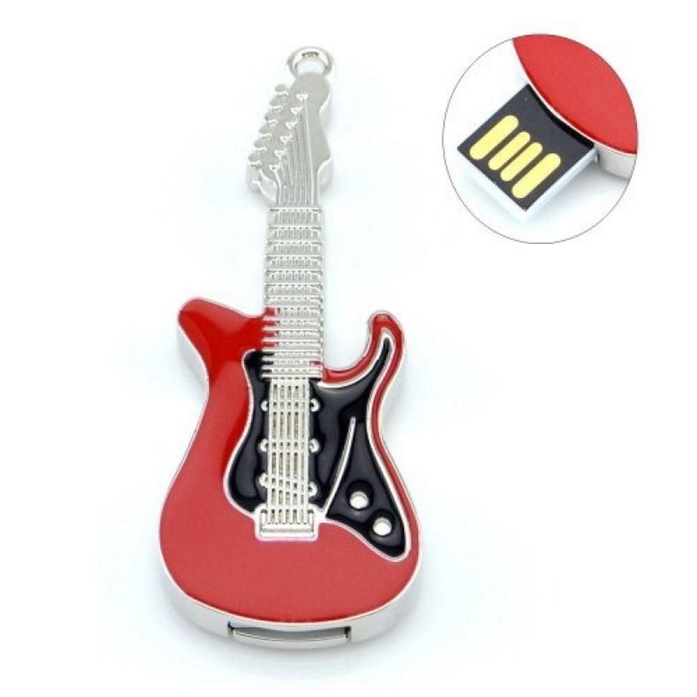 Флешка Гитара красно-черная