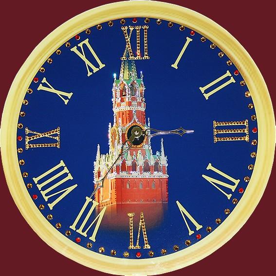 Часы с кристаллами Swarovski Кремлевские куранты