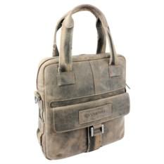 Вертикальная кожаная сумка WENGER STONEHIDE, коричневый