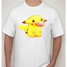Мужская футболка Пикачу с чупа чупс