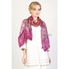 Розовый воздушный палантин Laura Biagiotti redvio