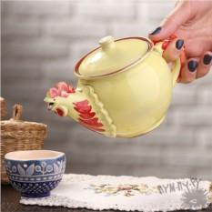Чайник ручной работы Золотой петушок