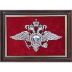 Малая лакетка Эмблема Министерства внутренних дел РФ