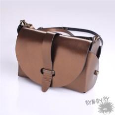 Женская кожаная сумка Эсмеральда (цвет: бронза)