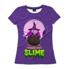 Женская футболка 3D Ведьмочка