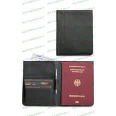 Черное портмоне и футляр для паспорта с мини-ручкой Cross