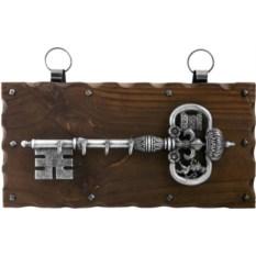 Настенная ключница Серебрянная дверь
