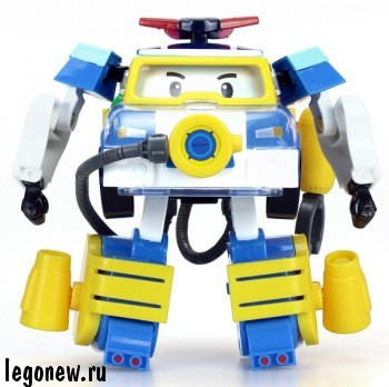 Машинка - трансформер Поли в костюме водолаза (Robocar)