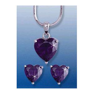 Комплект с фиолетовыми кристаллами