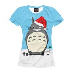 Женская футболка New Year Totoro