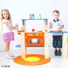 Деревянная кухня-трансформер для детей Гавайский микс