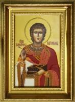 Хрустальная картина Swarovski Икона Святой Пантелеймон