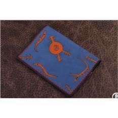 Обложка для паспорта. Коллекция Altamira (синий; тип 2; нат. кожа)