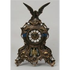 Часы из бронзы с маятником Орёл 38х25 см, цвет каштановый