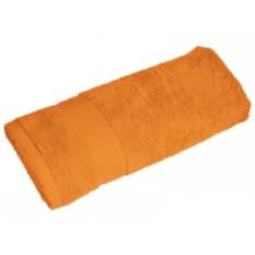 Оранжевое большое махровое полотенце