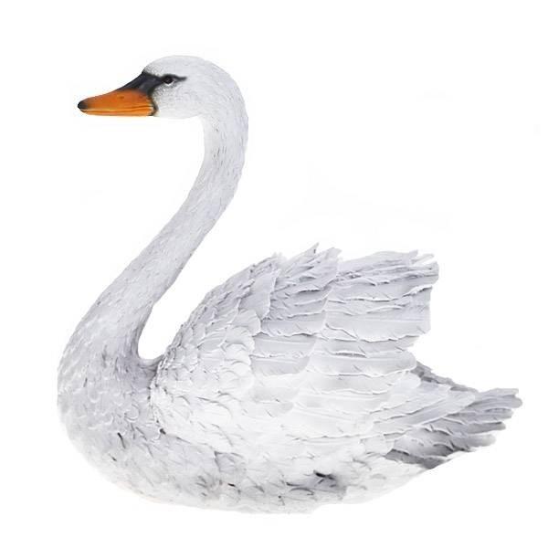 Декоративная садовая фигура Большой лебедь