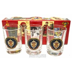 Набор стеклянных стопок с символикой ФСБ