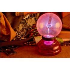 Розовый светильник-плазма Amarena Любовь