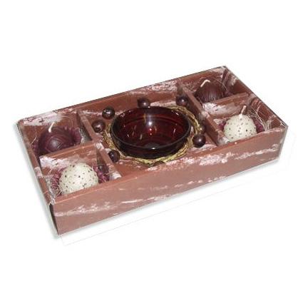 Набор свечей-конфет с подсвечником