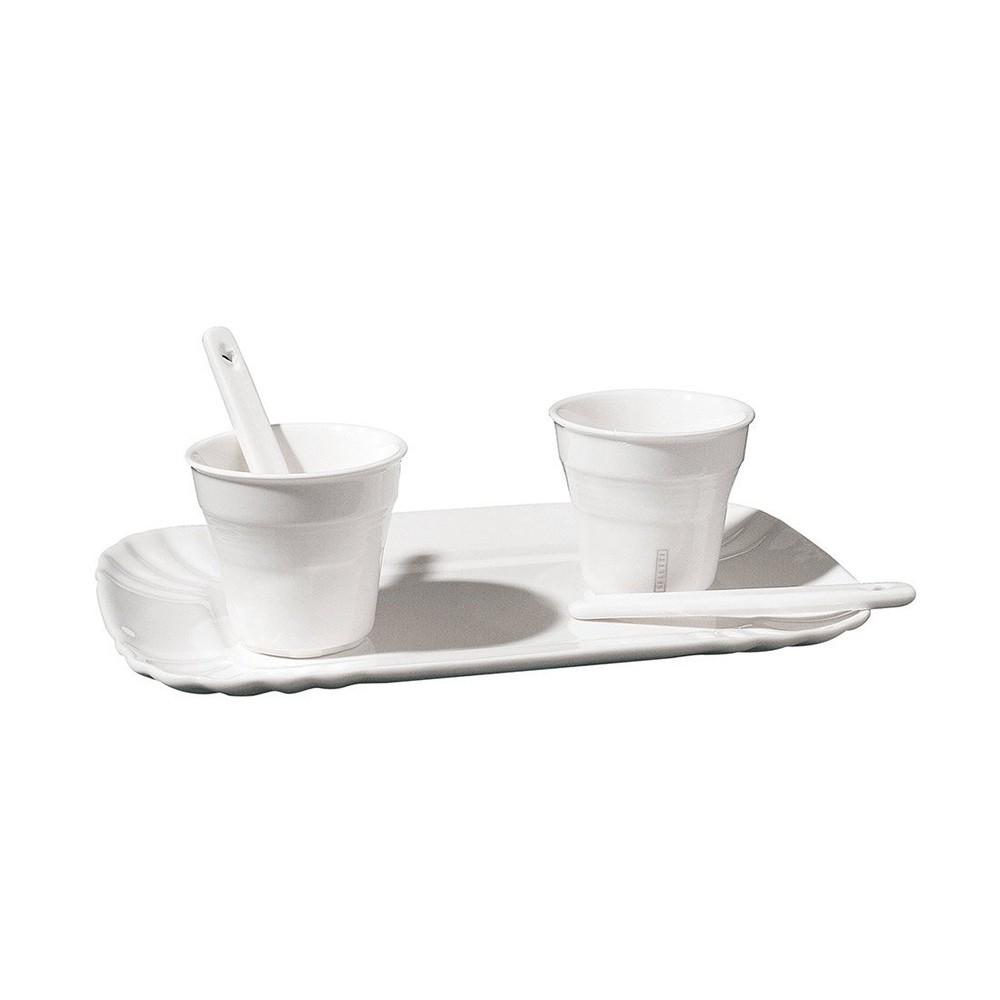 Кофейный набор Estetico на 2 персоны из белого фарфора