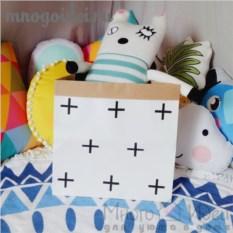 Эко-мешок для игрушек из крафт бумаги Крестики
