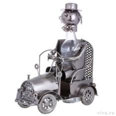 Декор бутылки из металла Шеф за рулем
