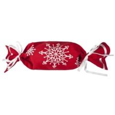 Красная упаковка-конфета Снежинки