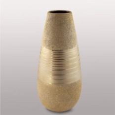 Золотисто-бежевая ваза из керамики