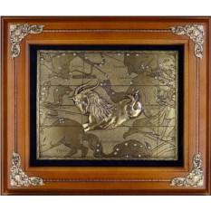 Деревянное панно Козерог (цвет: орех)