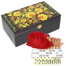 Набор игр в подарочной шкатулке Мастерство (лото, домино)