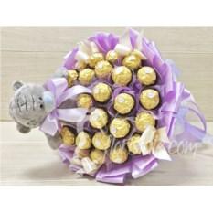 Букет из конфет Ferrero Rocher и мишки Тедди